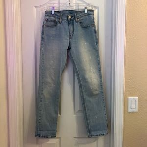Levi's denim white washed jeans